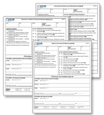 Construction quality inspection checklist form templates for Construction finishing checklist
