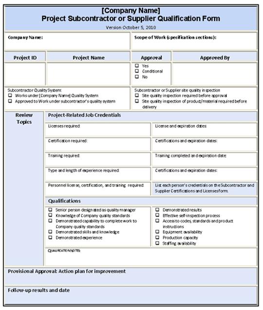 general contractor bid sheet