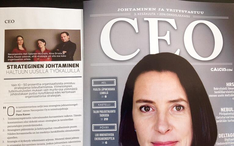 Take Control Over Strategic Management With New Tools (article in Finnish in CEO-magazine)