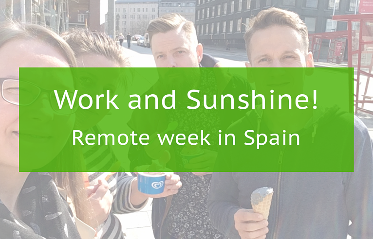 Team FIBRES and a remote work week in Spain