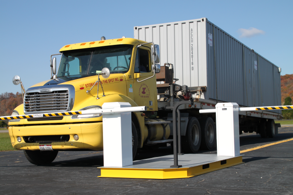 Mssi portable vehicle barrier gate with a guard office