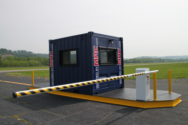 Mssi portable vehicle access control with a guard office