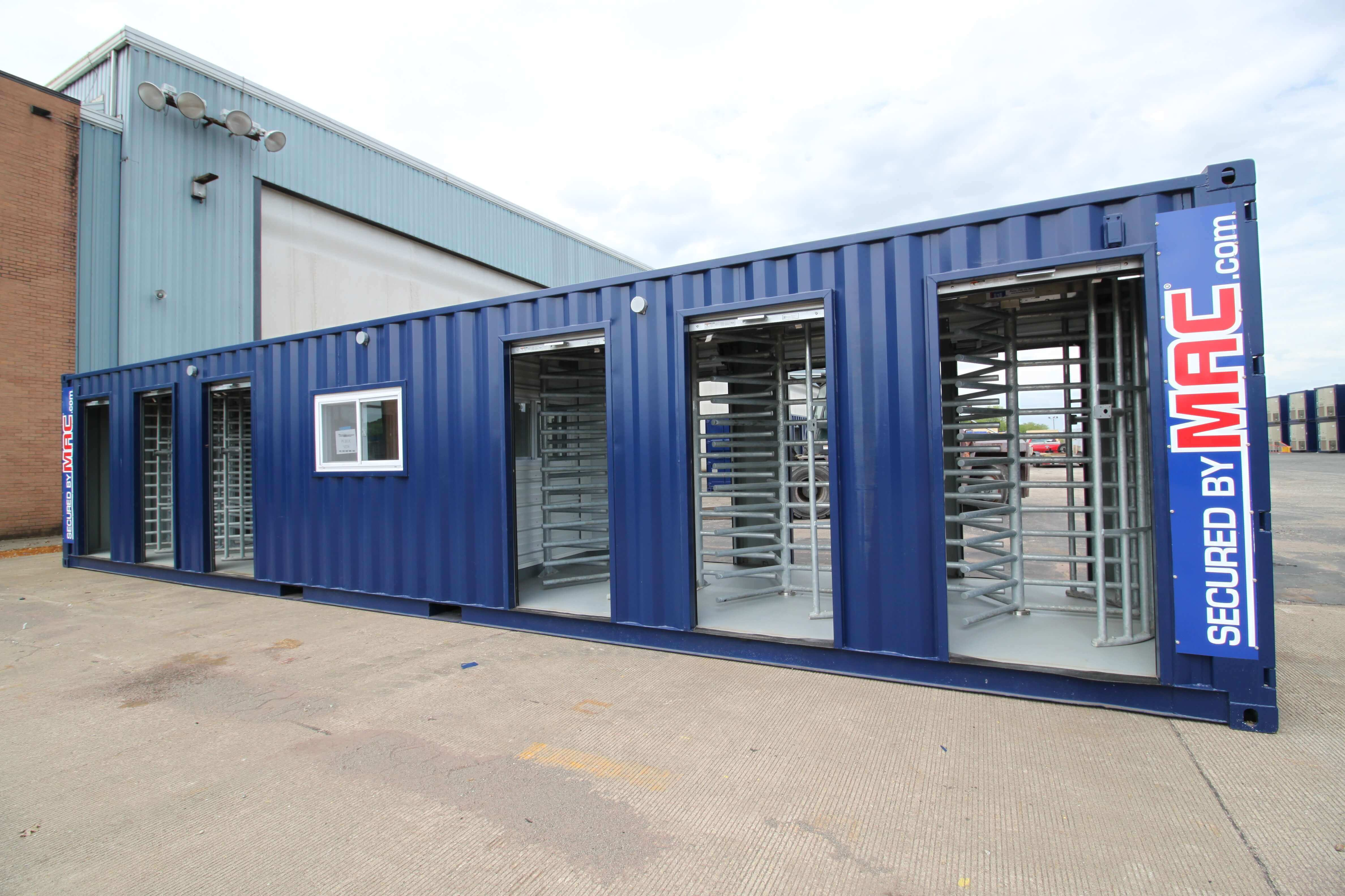 MAC-6, six turnstiles with an office, patented MAC Portals