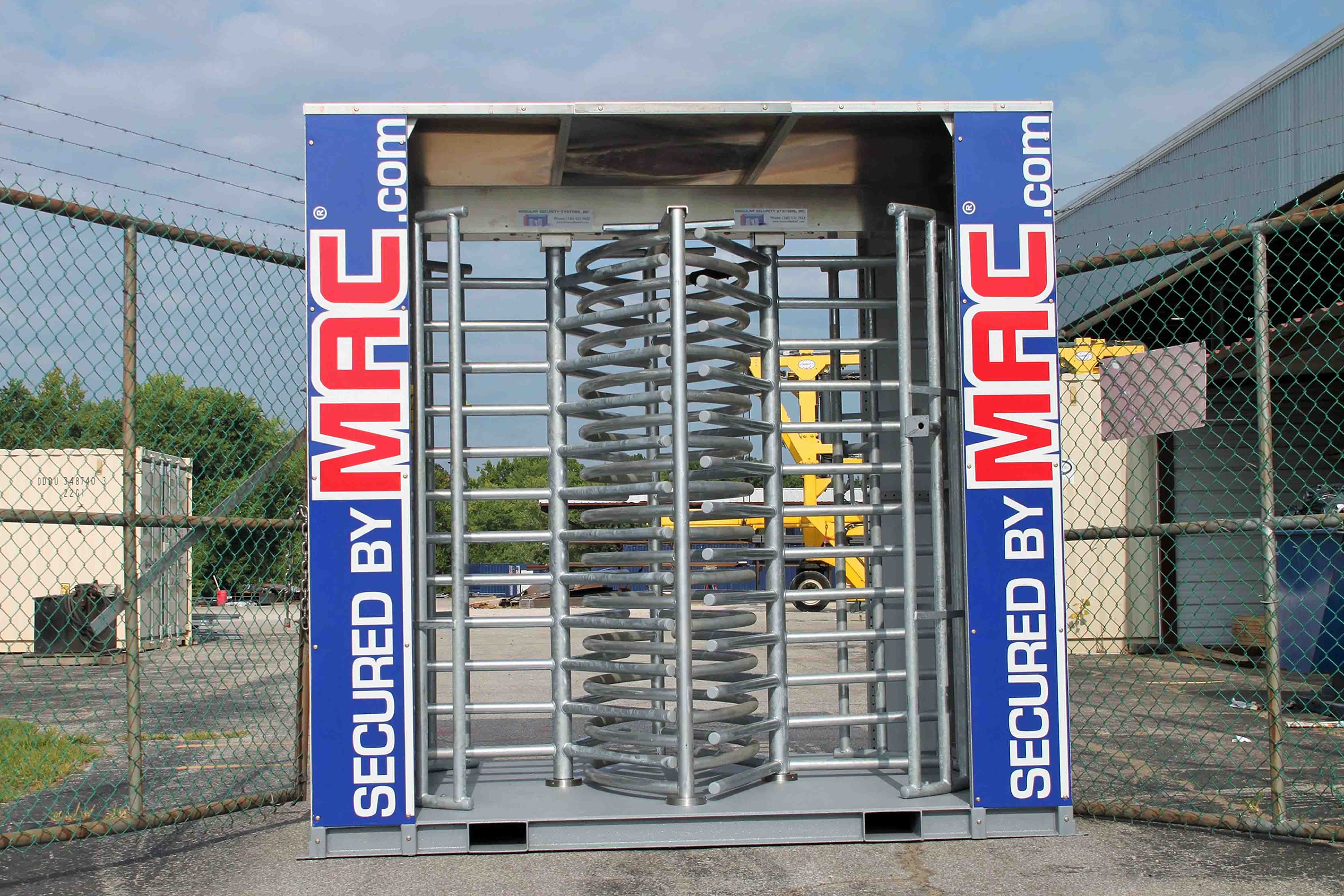 MAC-2T Lite, two lightweight turnstile lanes