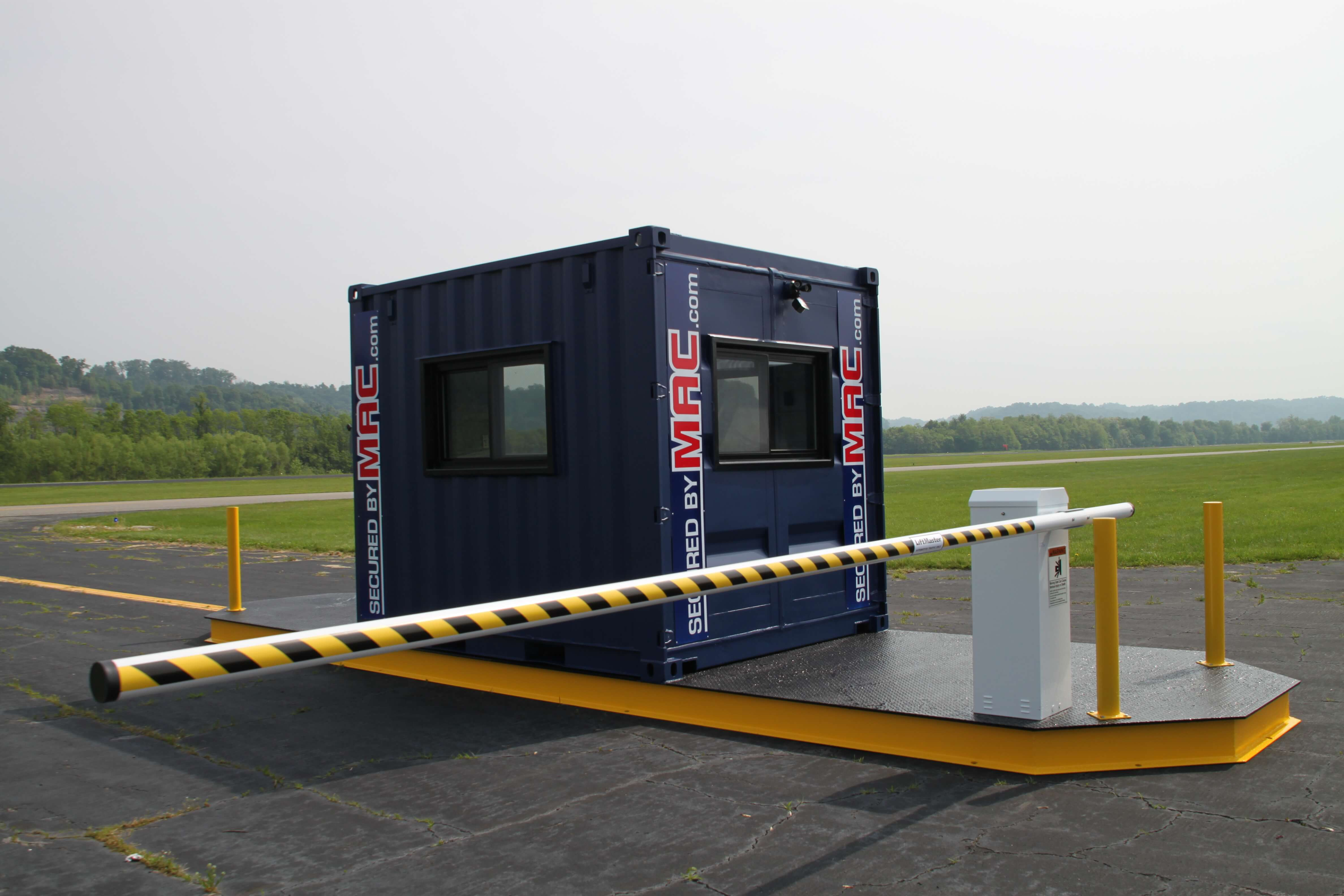 Vehicle Access Control gate with an office