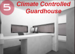 climate controlled guardhouse, climate controlled guard shack, climate controlled guard office