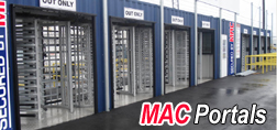 MAC Portals, MAC Portals with turnstiles, turnstiles in MAC Portals
