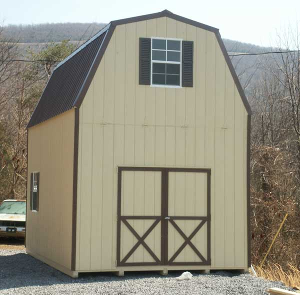Affordable amish 2 story shed kits and barns available in for Two story storage building plans