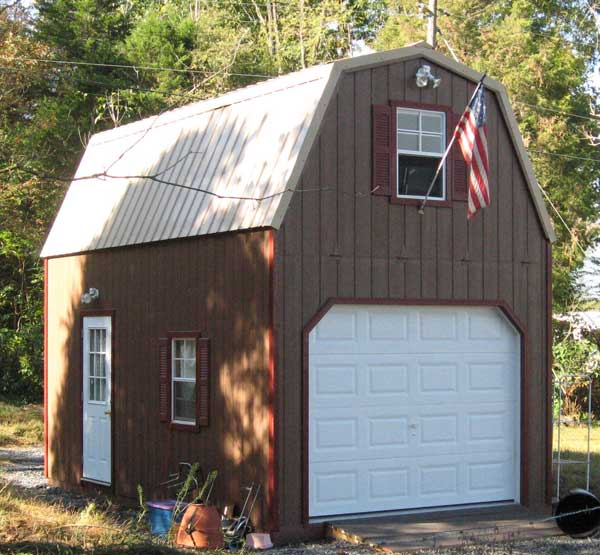 Affordable amish 2 story shed kits and barns available in for Live in garage kits