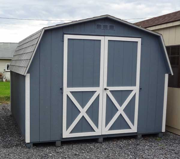 4u0027 Mini Barn Wood Shed   4 Foot Sidewalls With The Peak Of The Mini Barn At  8u0027 Tall