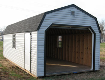One car garage with 3 siding options for 1 1 2 car garage
