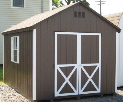 10x14 shed for 10x14 garage door