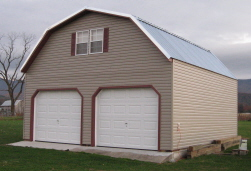 24x24 prefab 2 story garages for Two story metal garage