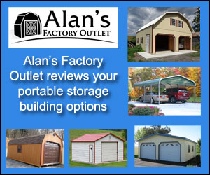 alans factory outlet reviews portable storage buildings available