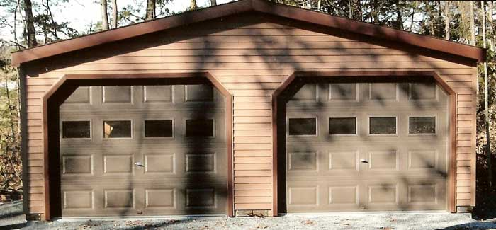 Cost to build a garage for 2 car detached garage kits
