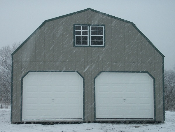 gambrel 2 story 2 car garage