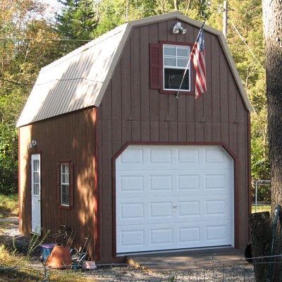 gambrel 2 story garages