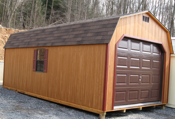 Portable Wooden Garages : Portable prebuilt sheds storage buildings prefab