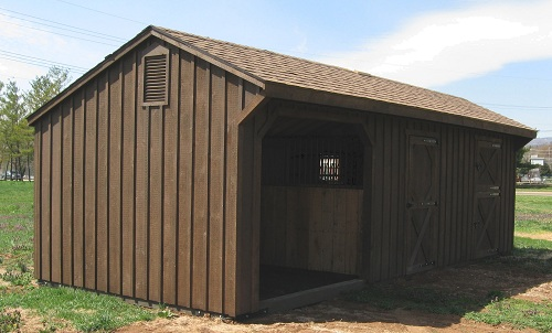 how to build a cheap horse shed
