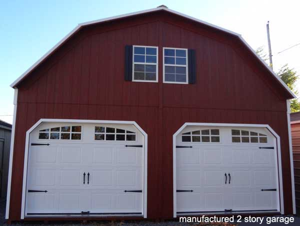 Manufactured garages to keep your car glowing even when it for Prefab 2 story garage apartment