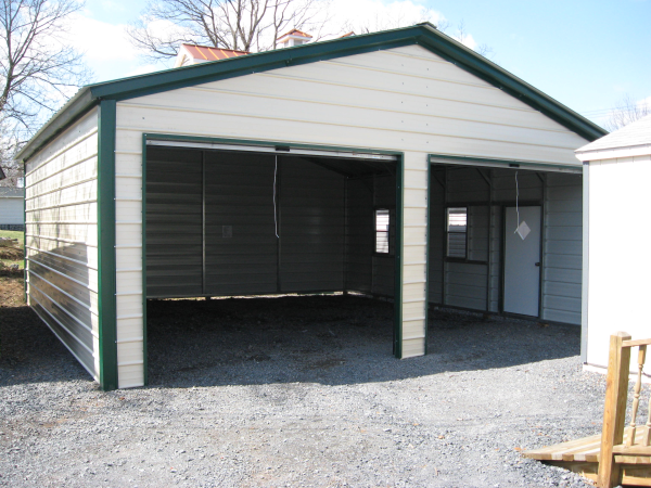 24x26 Metal Garage Vertical Roof Virginia Va