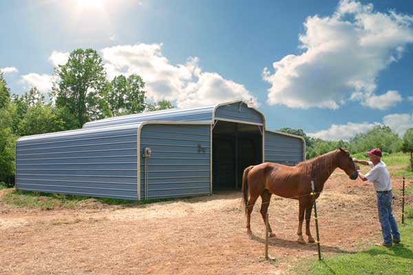 Metal Horse Shelters : Metal shelters for a car rv boat or animal shelter