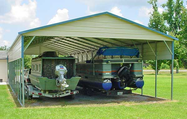 Wood Boat Shelter : Metal shelters for a car rv boat or animal shelter