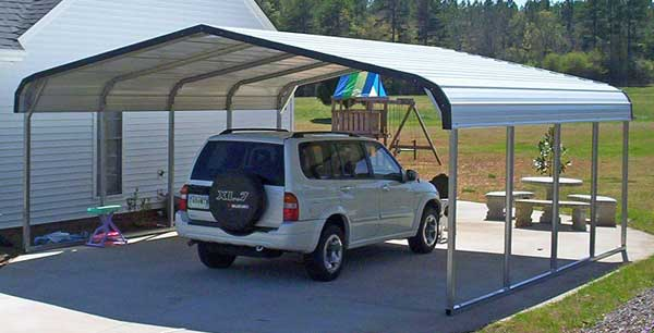 Shelter Build A Car : Metal shelters for a car rv boat or animal shelter