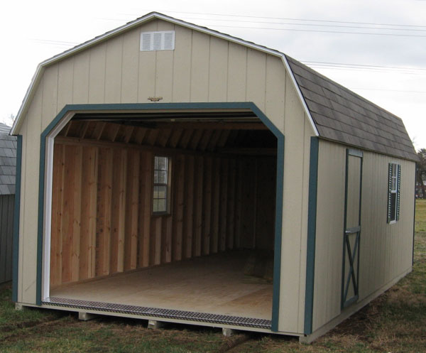 Pre built garages delivered to your home for Pre built storage sheds