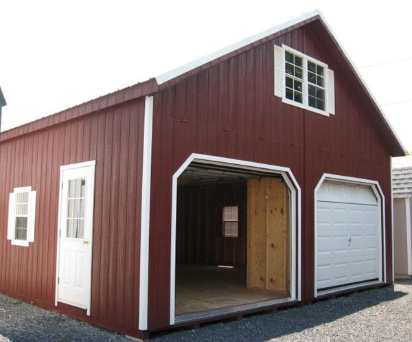 2 Story Doors : Pre built garages delivered to your home