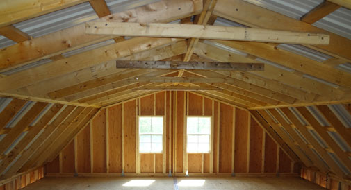 24x24 wood two story barn garage design for 24x24 2 story house plan