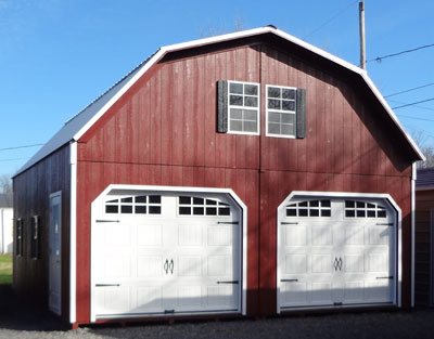 2 story 2 car garage barn