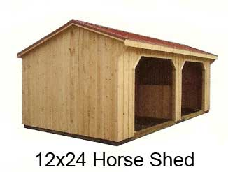 Horse shed shelters and horse stalls for 2 stall horse barn kits