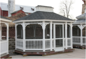Gazebo Kits, Gazebos Kit, Wood and Vinyl Gazebo Kits