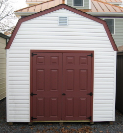 Vinyl Storage Buildings in VA. 10x16 Vinyl Dutch Barn Sheds & Vinyl Sheds | Vinyl Storage Sheds | Amish Buildings in Virginia