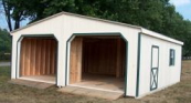 amish built 2 car garages