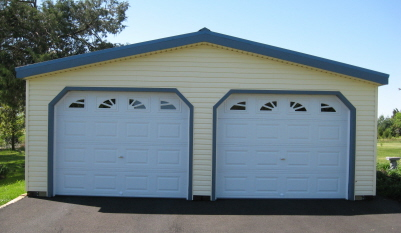 Great prices on a prefab two car garage order online 24 for Average sq ft of 2 car garage
