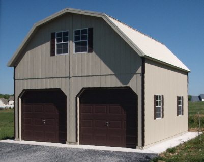 20x20 two story garage for Two story two car garage