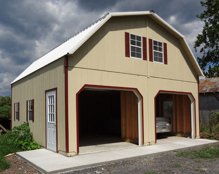 Storage buildings garages carports horse barns gazebo for Two story metal garage