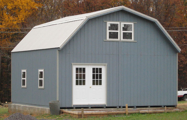 2 story shed from alans factory outlet - Garden Sheds Virginia