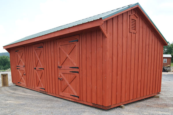 3 stall shed row horse barn for sale virginia