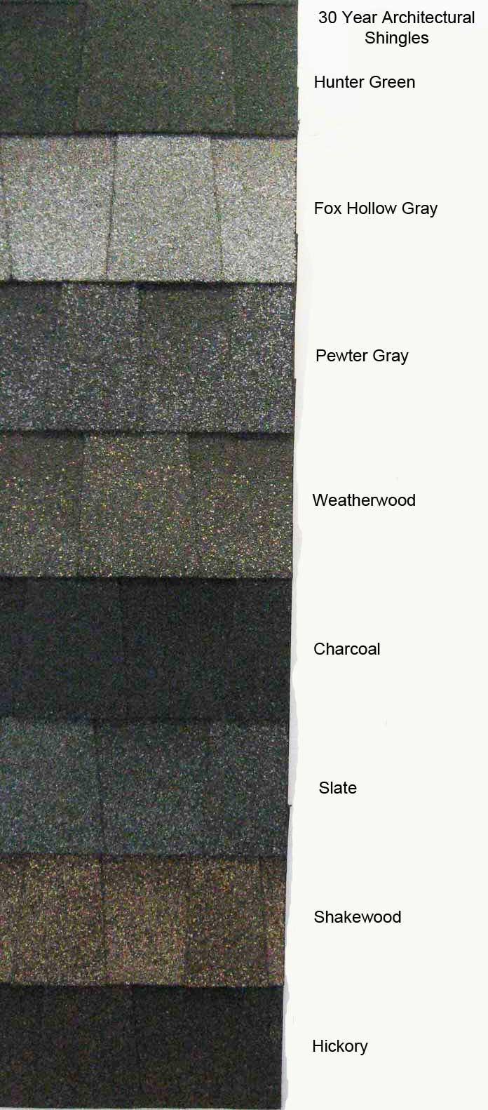 30 year architectural shingle colors amish sheds