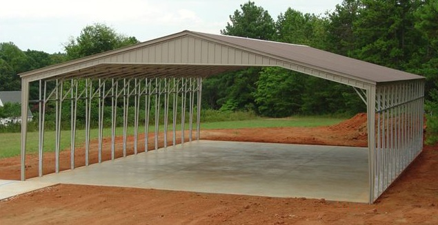 32 to 40 wide sturdy metal carports garages metal buildings for Carport shop combo