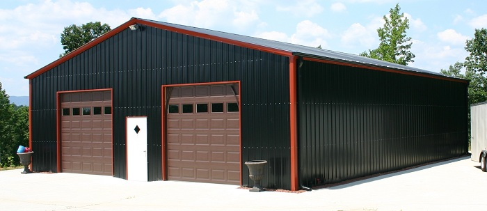40 wide metal garages MO