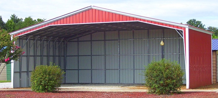 32 to 40 wide sturdy metal carports garages metal buildings for Garages and carports