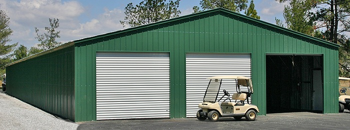 40 wide metal garages