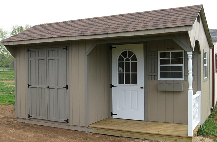 Amish Sheds with porch 10x16