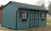 quaker style wood shed