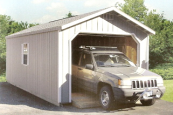 a-frame wooden garages