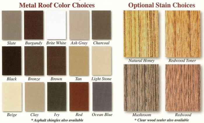 Board Batten Color Chart, Board Batten Colors